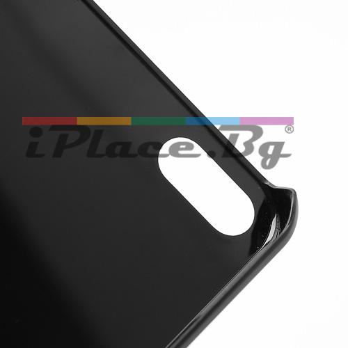 Пластмасов, черен панел с черепи за iPhone 5/5S/SE