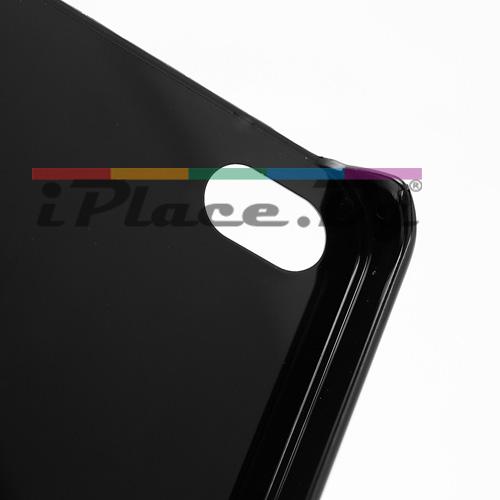Пластмасов, черен панел с черепи за iPhone 4/4S