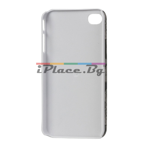 Пластмасов, черен панел - черепи за iPhone 4/4S