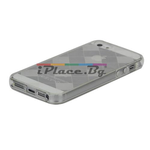 Силиконов, прозрачен калъф - карета за iPhone 5/5S/SE