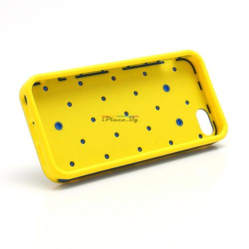 Пластмасов, синьо-жълт панел - каре за iPhone 5/5S/SE