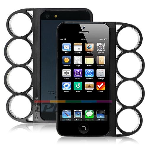 Пластмасов, черен панел - бокс за iPhone 5/5S/SE