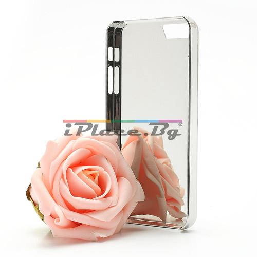 Пластмасов, сребрист панел - Париж за iPhone 5/5S/SE