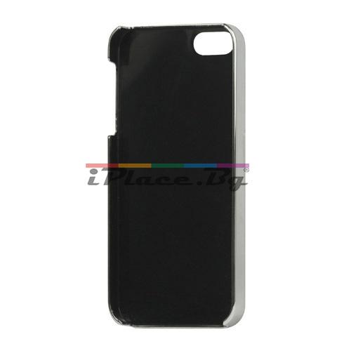 Пластмасов, розов панел - крокодилска кожа за iPhone 5/5S/SE