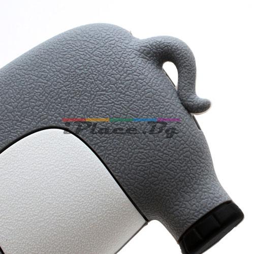 Силиконов, сив калъф - слон за iPhone 5/5S/SE