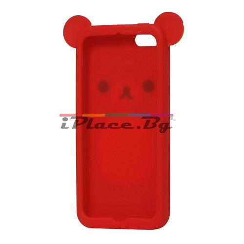 Силиконов, червен калъф - мече за iPhone 5/5S/SE