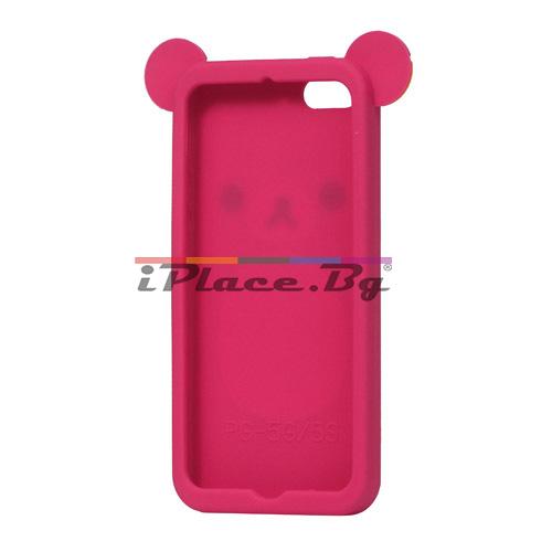 Силиконов, розов калъф - мече за iPhone 5/5S/SE