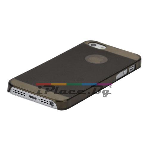 Пластмасов, черен панел - ултра тънък за iPhone 5/5S/SE
