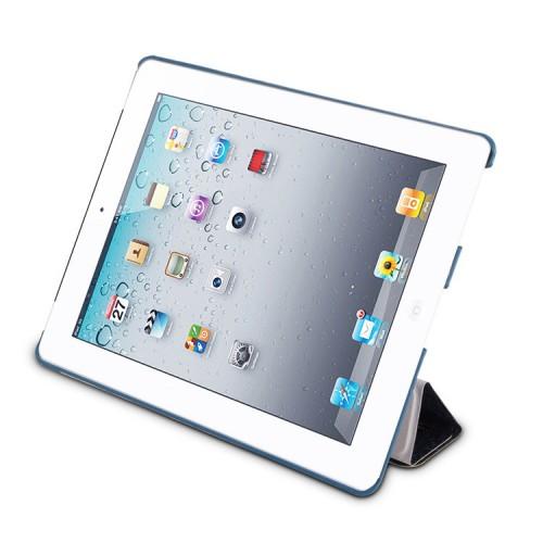 Кожен, черен панел - стойка за iPad 2, 3, 4