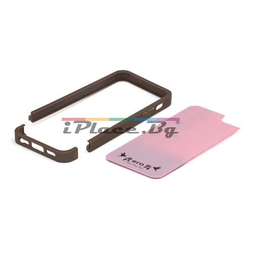 Пластмасов, розов панел - сърца за iPhone 5/5S/SE