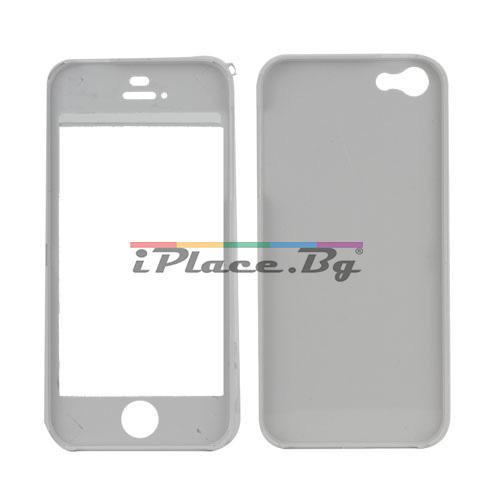 Пластмасов, бял панел - мече за iPhone 5/5S/SE