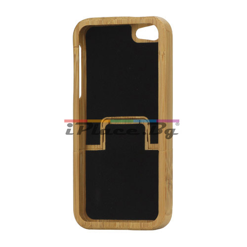 Дървен, кафяв панел - зебра за iPhone 5/5S/SE