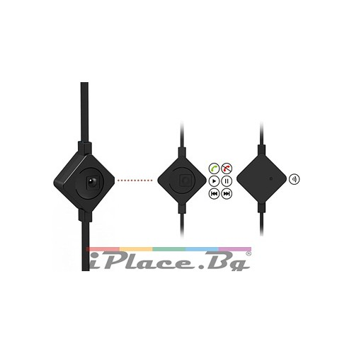 Метални, сини слушалки с микрофон за iPhone/Samsung