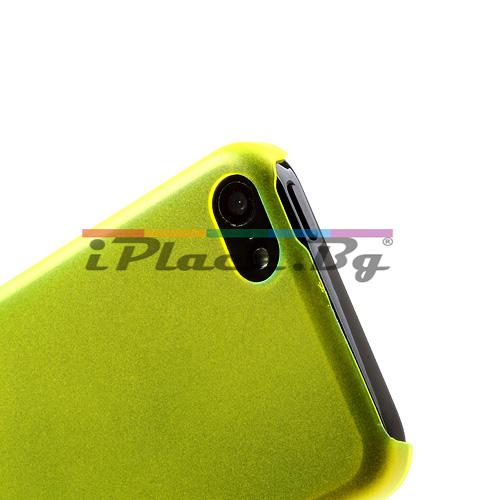 Пластмасов, жълт панел - ултра тънък за iPhone 5C