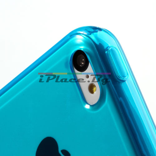 Силиконов, син калъф за iPhone 5C