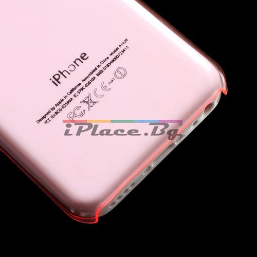 Пластмасов, розов панел за iPhone 5C