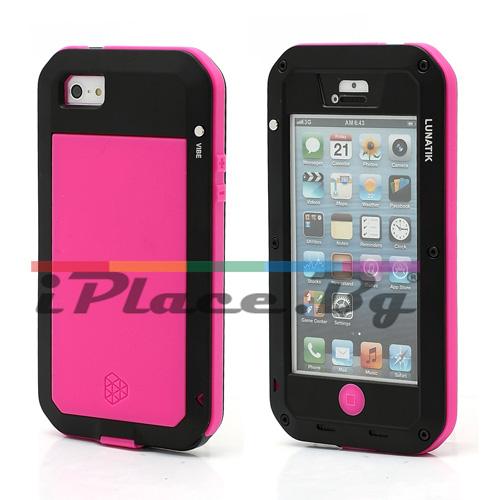 Метален, розов, удароустойчив панел за iPhone 5/5S/SE