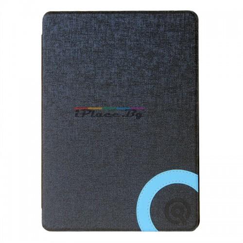 Кожен, син калъф - стойка за iPad Air