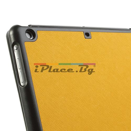 Пластмасов, жълт панел - стойка за iPad Air