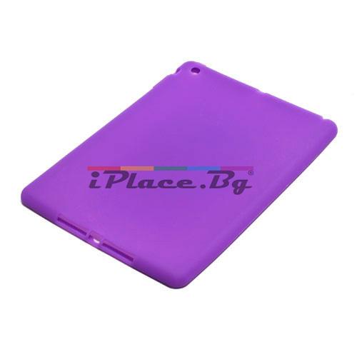 Силиконов, лилав калъф за iPad Air
