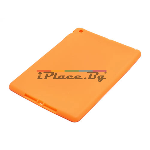 Силиконов, оранжев калъф за iPad Air