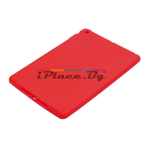 Силиконов, червен калъф за iPad Air