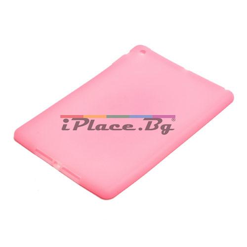 Силиконов, розов калъф за iPad Air