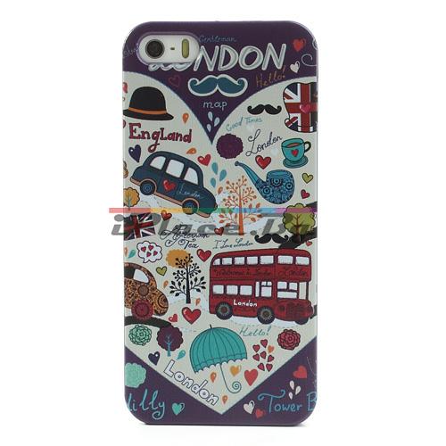 Пластмасов, лилав панел - London за iPhone 5/5S/SE