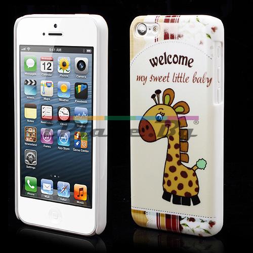 Пластмасов, бял панел - жираф за iPhone 5C