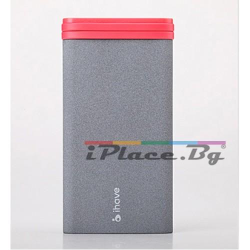 Пластмасова, сива батерия - 6000mAh за iPhone/iPad/Samsung